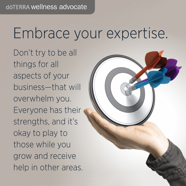 Write a list of personal skills for your Doterra business