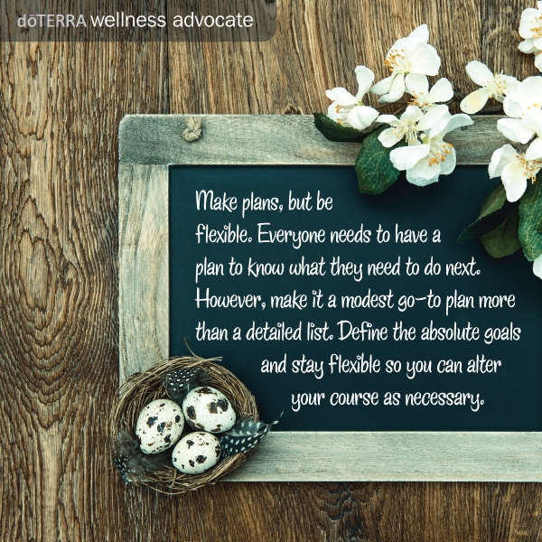 Don't forget to write your personal Doterra planner