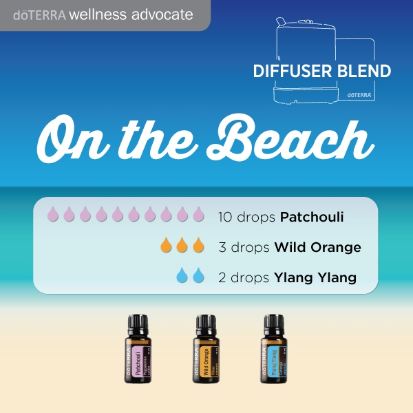 Doterra summer beach walk perfume diffuser blend