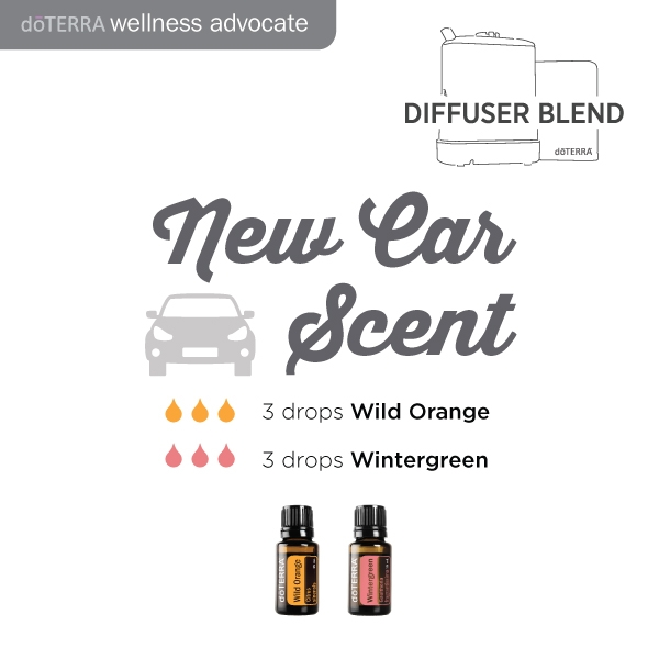 Doterra new car oil diffuser blend
