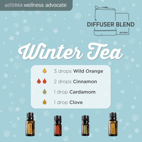 Winter tea essential oil diffuser recipes