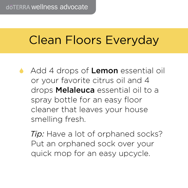 Doterra cleaning recipes for Clean Floors Everyday
