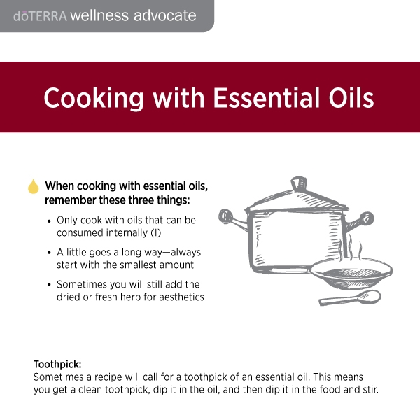 Cooking with Doterra tips