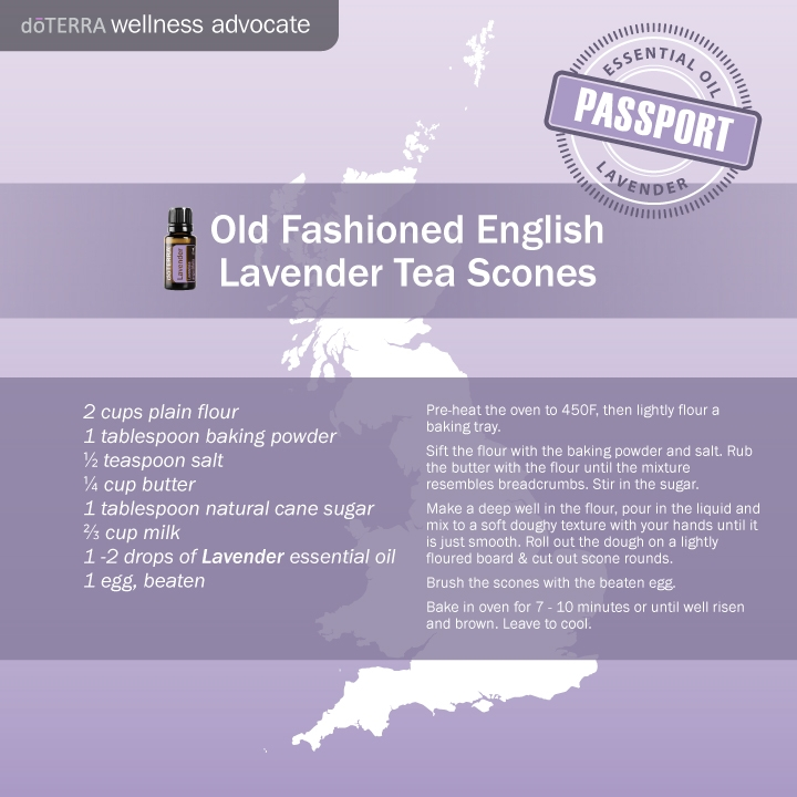 Lavender oil English scones recipe