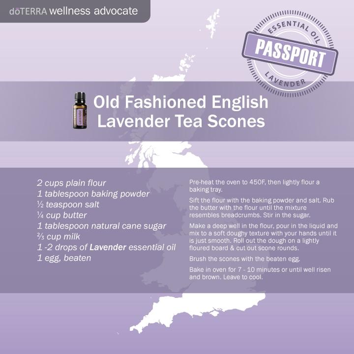 Lavender oil English scones recipe