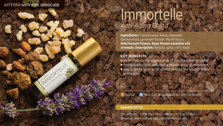 Doterra Immortelle anti aging blend