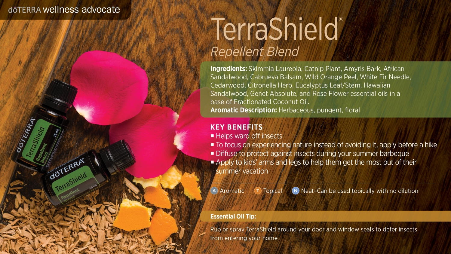 Doterra terrashield bug spray blend