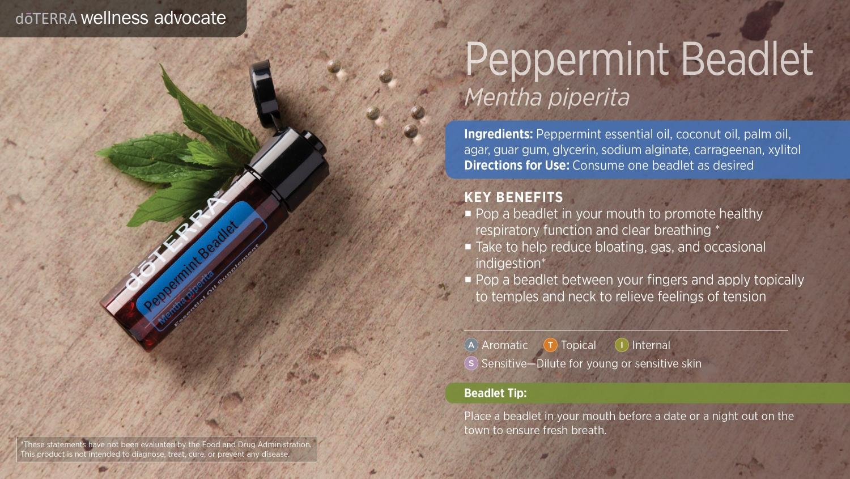 Doterra peppermint beadlet