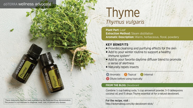 Doterra thyme oil