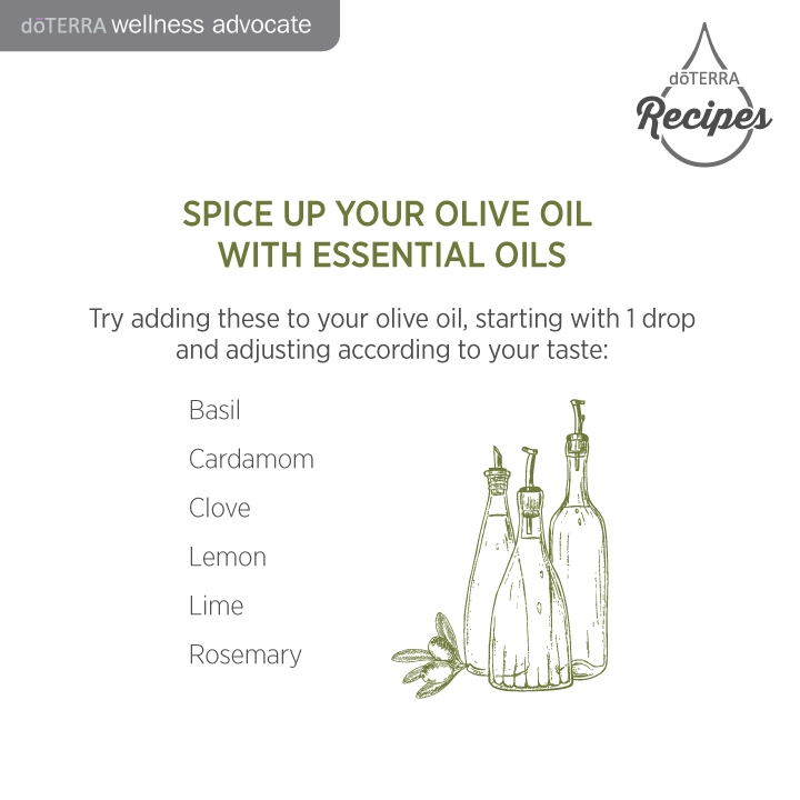 How to infuse olive oil with Doterra essential oils
