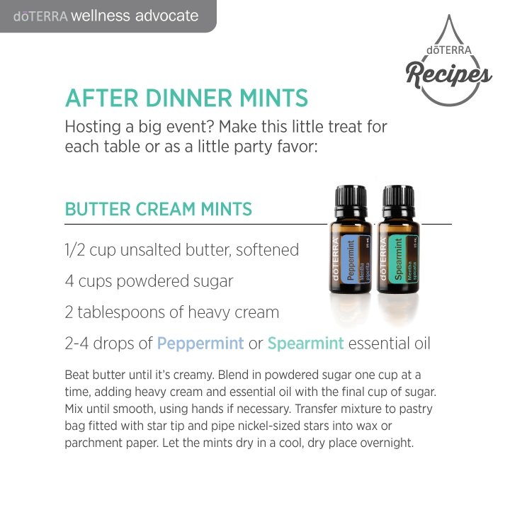 Doterra peppermint butter cream recipe
